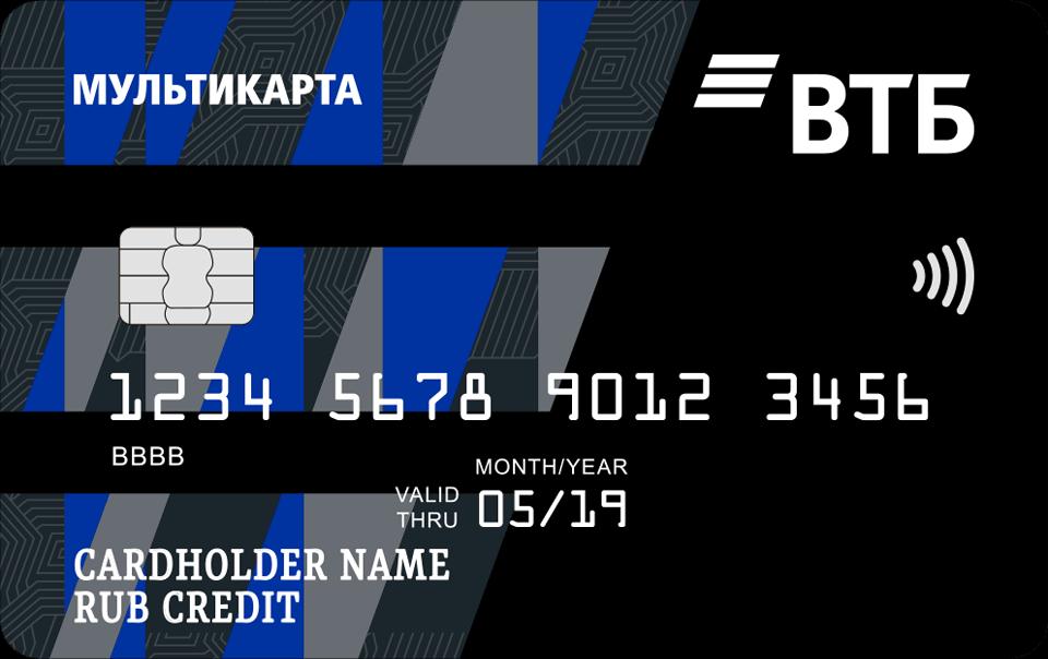 Кредитная карта ВТБ Мультикарта